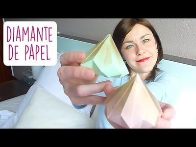 DIY DIAMANTE DE PAPEL PARA SAN VALENTÍN I Cómo se hace un diamante de origami ♥ Qué cositas