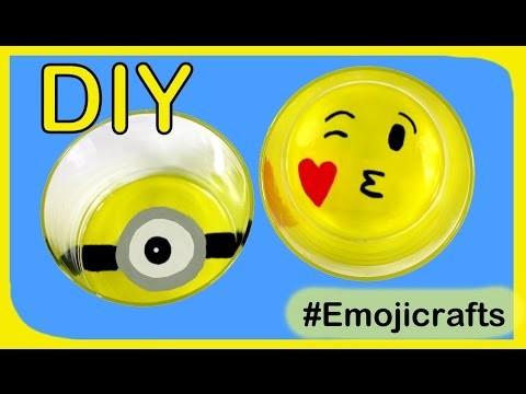 DIY emoji vasos, ideas con emoticonos #emojicrafts