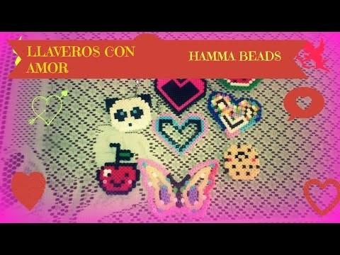 DIY LLaveros Con Amor.Hamma Beads