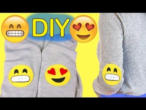 Personaliza tu ropa con coderas de emojis o emoticonos #emojicrafts