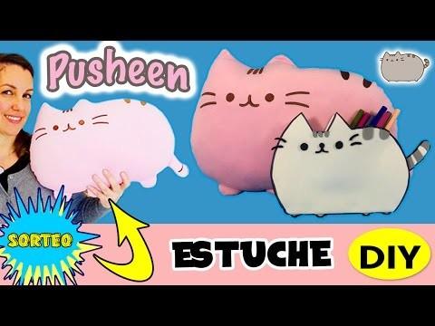 PUSHEEN THE CAT neceser o estuche DIY * SORTEO cojín PUSHEEN!!