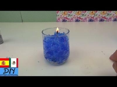 Vela de gel con adornos | DIY (Intento)