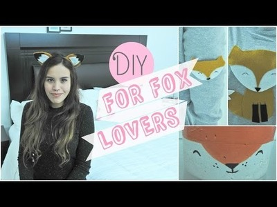 3 DIY de zorritos (fox diy)