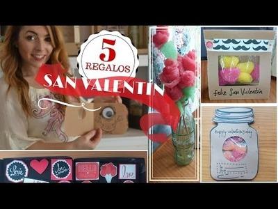 5 REGALOS PARA SAN VALENTÍN - DIY- FÁCILES, RÁPIDOS Y BONITOS