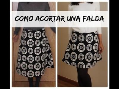 DIY   Cómo acortar una falda | DIYwithManneken