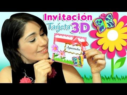 DIY ✂ Invitaciones 3D con relieve ✎ Invitación ó Tarjeta de Cumpleaños tipo Scrapbooking