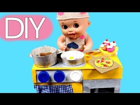 DIY Juguetes caseros: cocina para muñecos