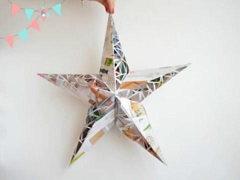 DIY: Lampara estrella de papel