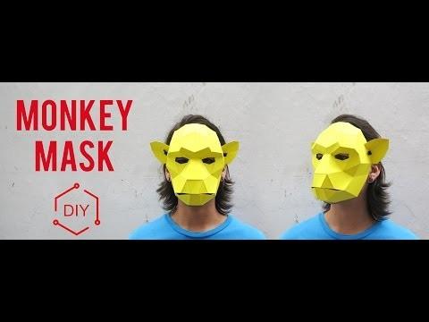 DIY - Monkey Mask. Geometric Mask. Wintercroft
