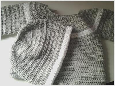 Gorrito a juego con jersey (chambrita) gris #tutorial #DIY