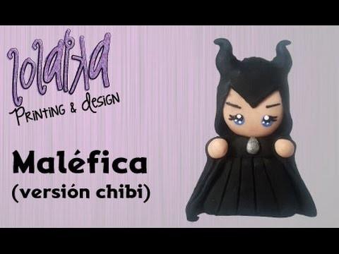 PROMO - Maléfica. Maleficent  Disney (chibi version) Polymerclay Tutorial DIY