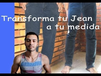 Transforma tu Jean a tu medida | DIY Tutorial - Turn Baggy Jean to Skinny Jean