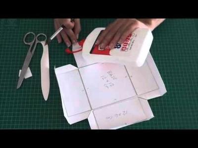 Tutorial: Caja para álbum o para regalo. DIY