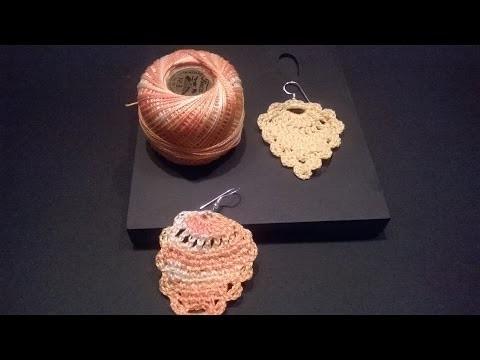 Aprendiendo a crear pendientes en forma de piña (a ganchillo. crochet)