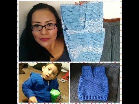 Chaleco para niño a crochet