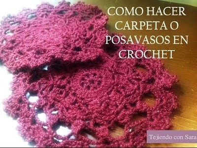 COMO HACER CARPETA O POSAVASOS FÁCIL EN CROCHET PARTE 1