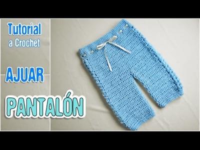 Como tejer pantalón a crochet (Ajuar)