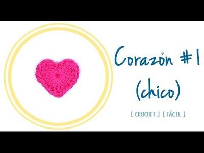 CORAZÓN A CROCHET #1 (chico)   Patrones Valhalla