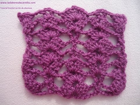 Crochet tutorial Jarron abanicos
