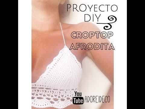 CropTop GRETA tejido al crochet