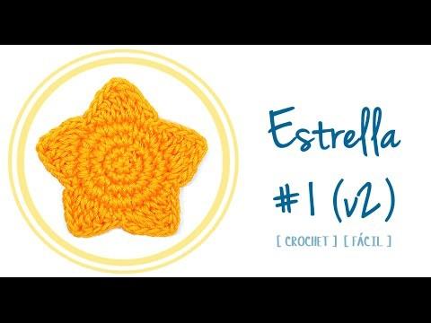 ESTRELLA A CROCHET #1 (versión 2)   Patrones Valhalla
