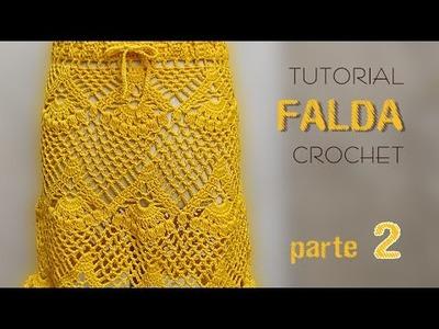 Falda tejida a crochet, varios talles (2 de 2) - Tutorial paso a paso