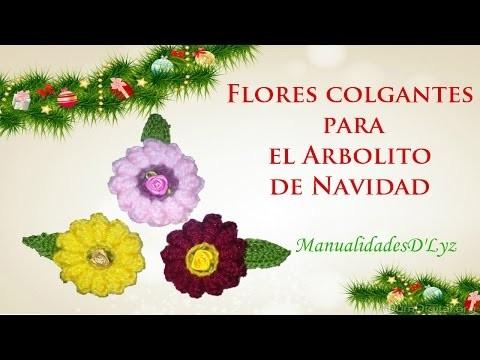 Flor Navideña a crochet para el Árbol de Navidad