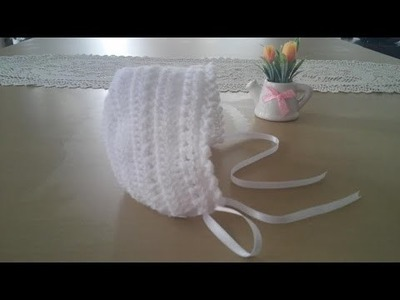 Gorrita para bebé: Como hacer una gorrita con capota en crochet o ganchillo