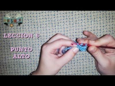 Lección 5: Punto Alto de Ganchillo paso a paso o Vareta Crochet