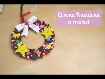 Navidad : Corona a crochet
