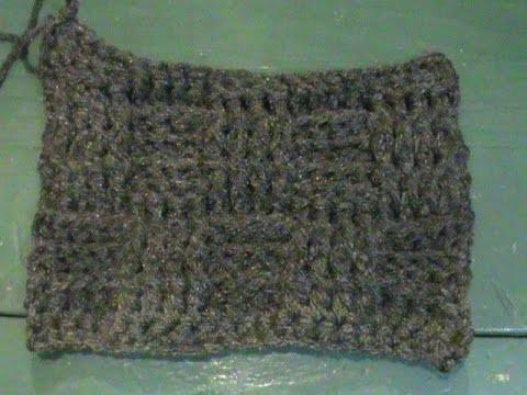 """Punto """"Cesta"""" a #Crochet."""