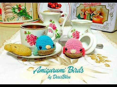 Reto 1: Cómo hacer un pajarito amigurumi. How to crochet an amigurumi bird