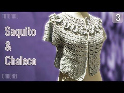 Saquito y Chaleco de verano para mujer, tejido a crochet (3 de 3)