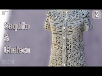 Saquito y Chaleco de verano para mujer, tejido a crochet (2 de 3)