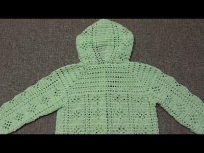Suéter 3 a 4 años Crochet parte 2 de 4