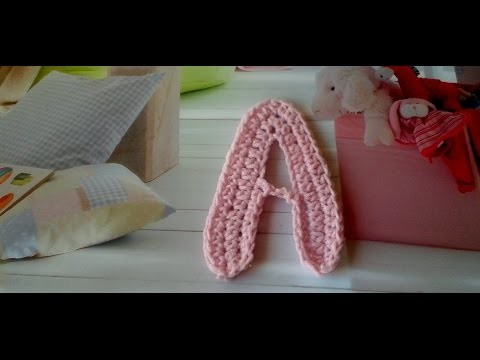 Tutorial de la letra  A.how to crochet letter A