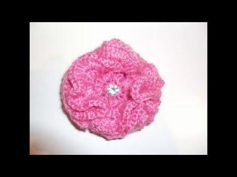 Tutorial flor de crochet muy fácil paso a paso. Peonía de ganchillo. Trenda Lerenda