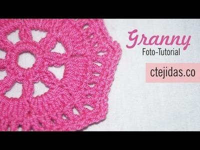 Tutorial Granny para Chal a Crochet - Paso a Paso