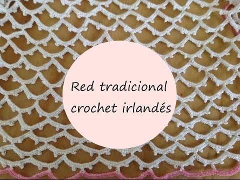 Vestido en crochet irlandés- Red tradicional para falda