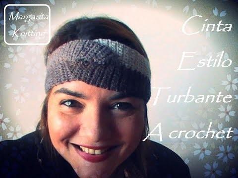Cinta estilo Turbante a crochet (diestro)