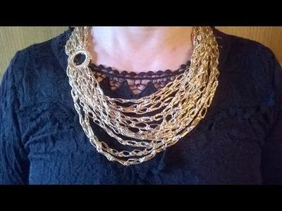 Collar exclusivo: pan de oro (ganchillo. crochet)