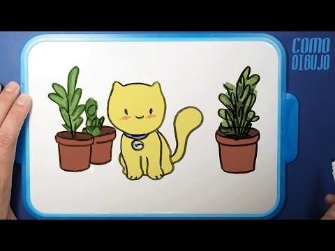 Como Dibujo un Gato Kawaii | How to Draw a Cat