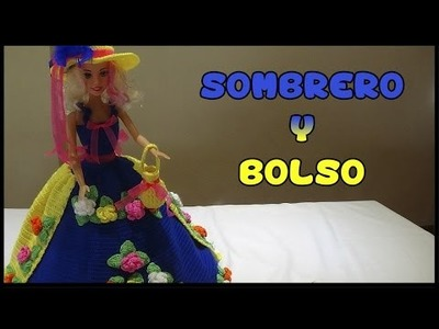 Como hacer Sombrero y Bolso a crochet para Muñeca