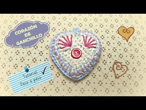Corazón de Ganchillo. Crochet Heart