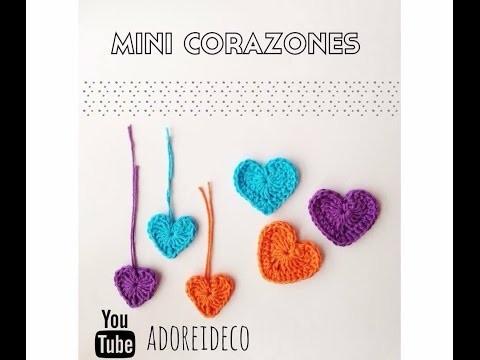 Corazón mini tejido al crochet