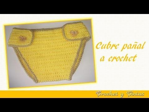 Cubre pañal para bebé tejido a crochet
