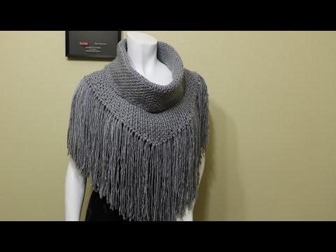 Cuello con Flecos Crochet