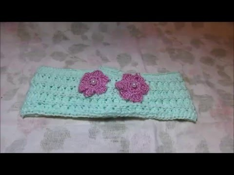 Diadema o Cintillo tejido a crochet Punto Varetas Cruzadas - # Mi rincón del tejido #