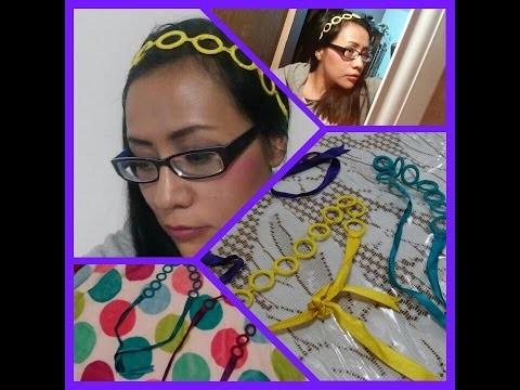 Diadema.vincha con aros.anillos a crochet