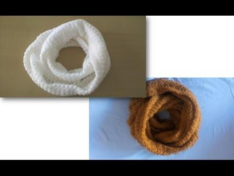Dos bufandas magicas: Cómo tejer en crochet la bufanda mágica